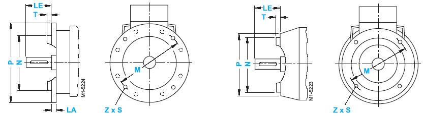 Присоединительные размеры фланцев электродвигателей Siemens